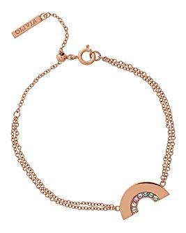 Olivia Burton Rainbow Rose Gold Bracelet