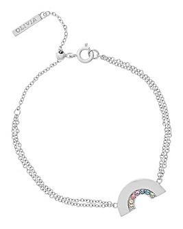 Olivia Burton Rainbow Silver Bracelet