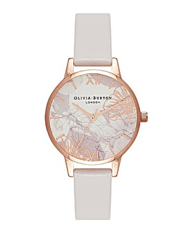 Olivia Burton Abstract Floral Blush & Rose Gold Watch