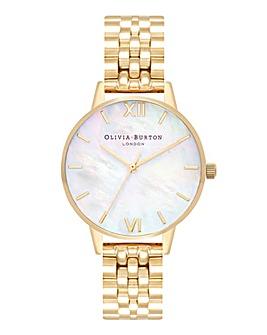 Olivia Burton MOP Dial Gold Bracelet Watch