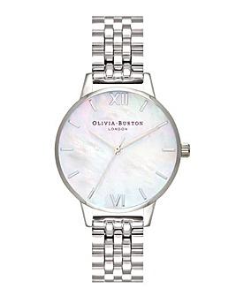 Olivia Burton MOP Dial Silver Bracelet Watch