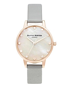 Olivia Burton MOP Dial Screw Detail Watch