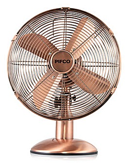 Pifco 12 Inch Copper Desk Fan