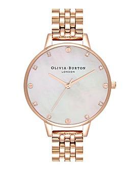 Olivia Burton Demi Blush MOP Rose Gold Bracelet Watch