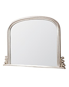Thornby Large Silver Over Mantel Mirror