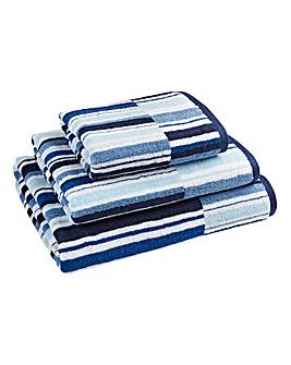 Oslo Stripe Towel Blue
