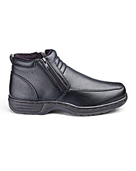 Cushion Walk Mens Twin Zip Boots Wide Fit