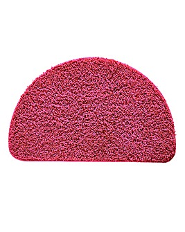 Shaggy Non-Slip Ultra Absorbent Half Moon Bath Mat