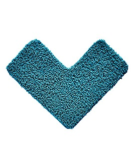 Shaggy Non-Slip Ultra Absorbent L Shape Bath Mat