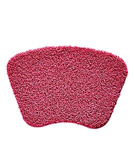 Shaggy Non-Slip Ultra Absorbent Curved Bath Mat