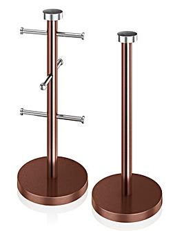 Mug Tree and Towel Pole Set Copper