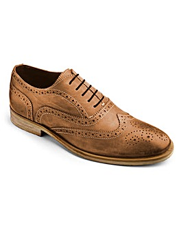 Hamnett Gold Lace Up Brogue Shoes