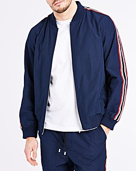 Navy Tape Sleeve Bomber R