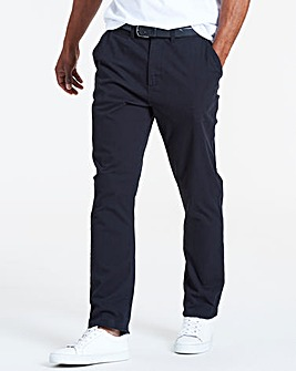 Black Smart Belted Chinos