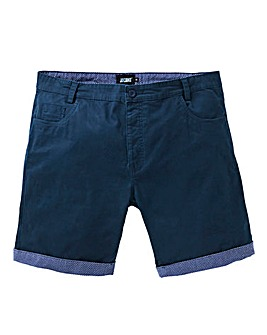 Navy Cuff Trim Chino Shorts
