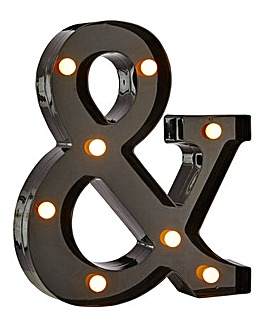 Black Ampersand Feature Light