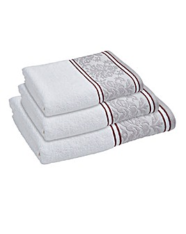 Damask Jacquard Border Towels