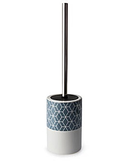 Geometric ceramic toilet brush holder