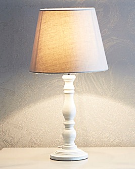 Clarissa Wooden Turned Table Lamp