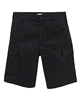 Black Slim Cargo Shorts