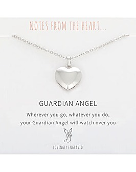 Guardian Angel Heart Pendant