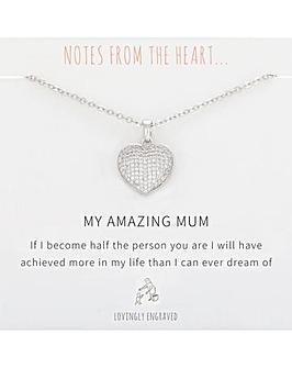Amazing Mum Heart Pendant