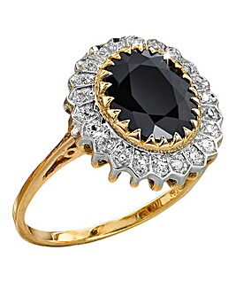 9 Carat Gold Sapphire & Diamond-Set Ring