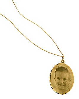 9 Carat Gold Photo Pendant