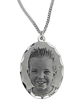 Sterling Silver Photo Pendant
