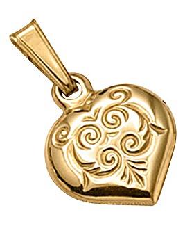 9 Carat Gold Heart Charm