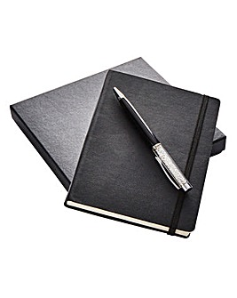 Faux Leather Notebook and Pen