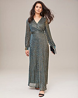 Joanna Hope Plisse Maxi Dress