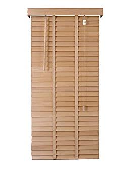 Wooden Venetian Natural Blind 50mm Slats