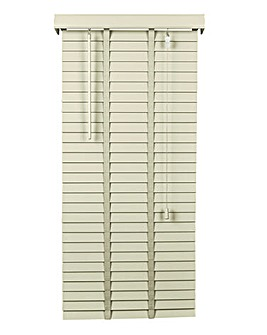 Wooden Venetian Cream Blind 50mm Slats