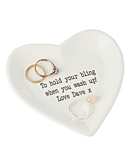 Personalised Heart Trinket Plate