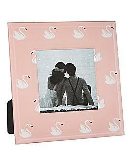 Decorative Swan Glass Photo Frame