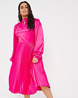 Joanna Hope Satin Midi Dress