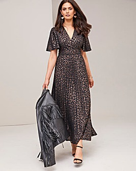 Joanna Hope Wrap Foil Print Dress