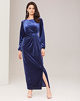 Joanna Hope Stretch Velour Maxi Dress