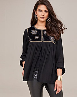 Joanna Hope Soft Embroidered Cover Up