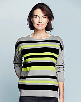 Stripe Zip Back Jumper