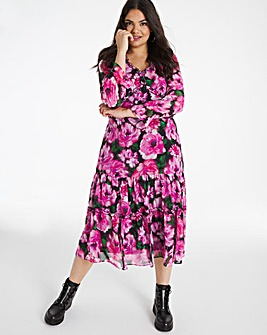 Joanna Hope Print Tiered Dress