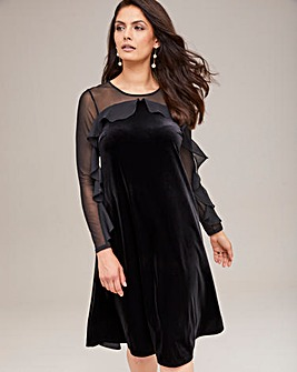 Joanna Hope Velour Swing Dress
