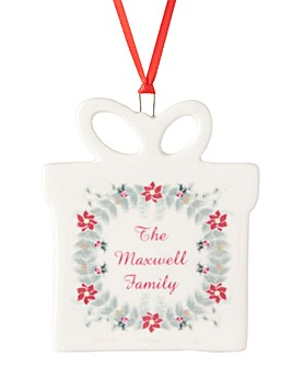 Personalised Hanging Present Decoration