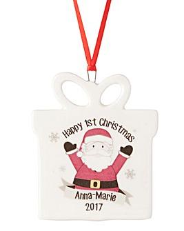 Personalised Hanging Present Decoration
