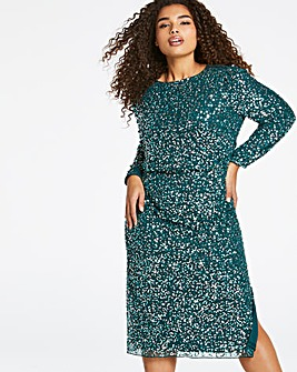 Joanna Hope Sequin Midi Dress