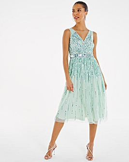 Joanna Hope Sequin Starburst Dress