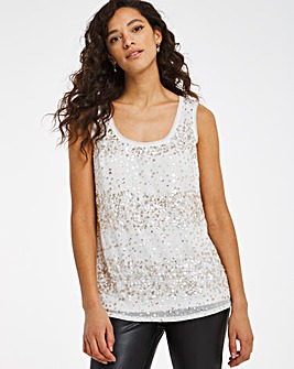 Joanna Hope Sequin Vest