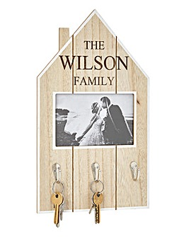 Personalised Wood House Key Hooks Frame