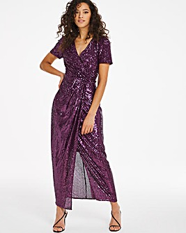 Joanna Hope Machine Sequin Twist Dress